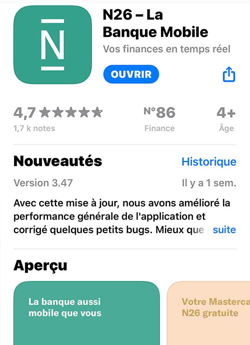 N26 - App Store