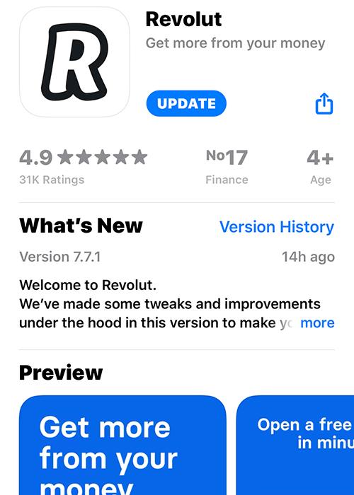Revolut App Store